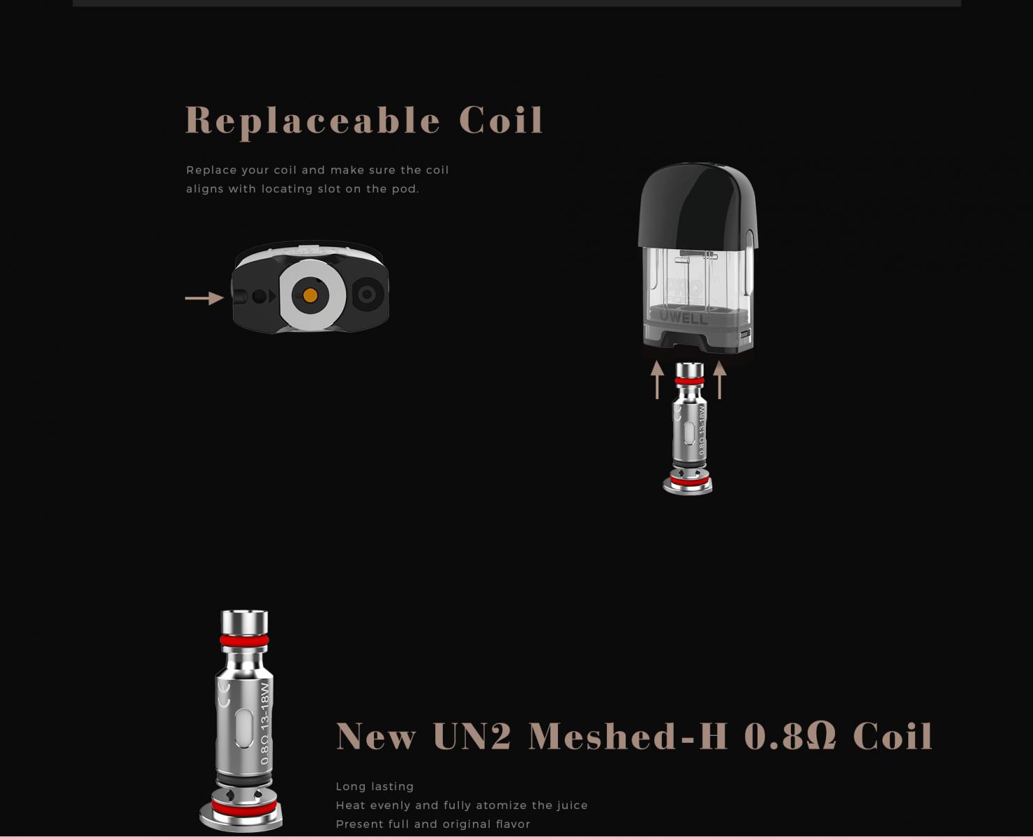 Uwell Caliburn G 15W Pod System Kit 690mAh giá sỉ 0912799091