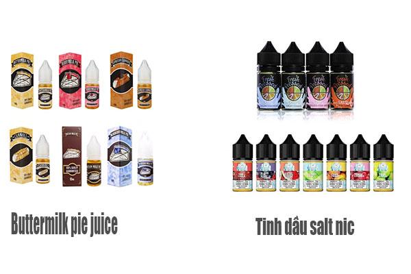 So sánh buttermilk pie juice và  Ejuice salt nic