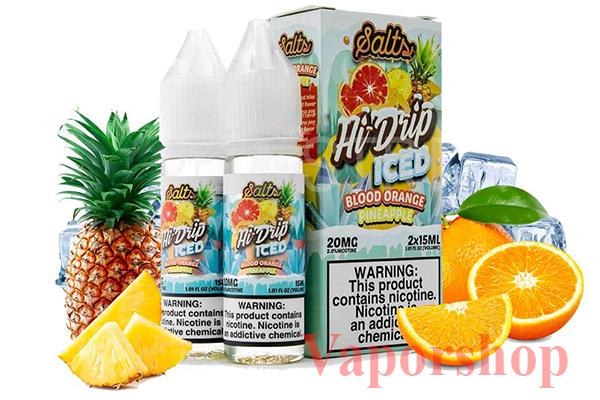 blood orange pineapple iced (Cam dứa lạnh)
