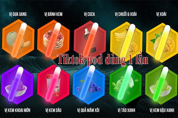 Các hương vị của Tiktok pod dùng 1 lần