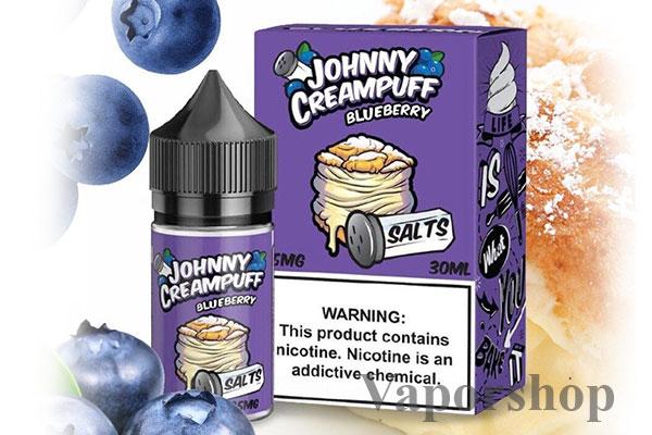 Johnny creampuff blueberry (Bánh su kem việt quất)