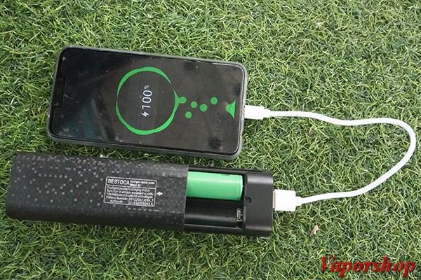 Sạc pin vape bằng sạc điện thoại