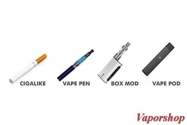 Các loại thuốc lá vape có trên thị trường