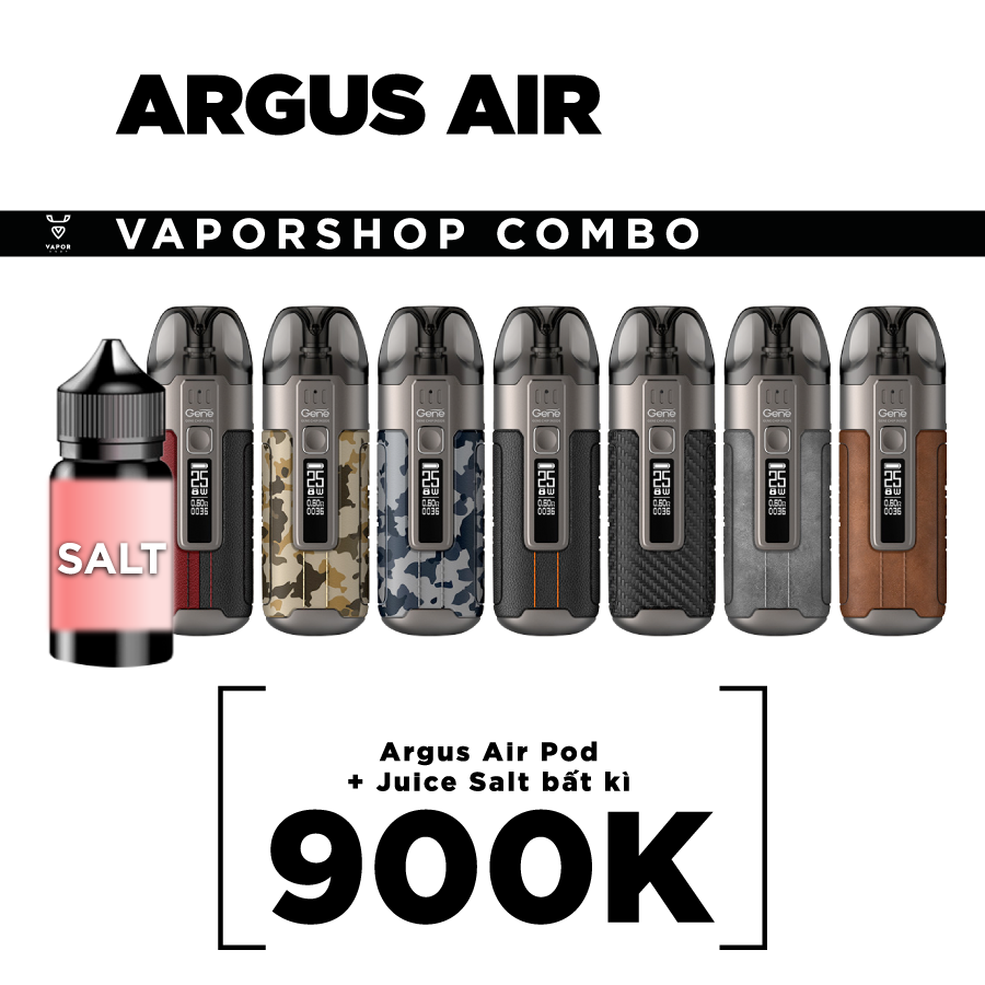 ARGUS AIR POD + JUICE SALT BẤT KÌ