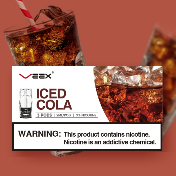 VEEX ICED COLA PODS 2ML (3PCS/PACK)